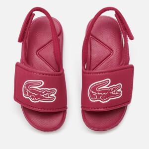 Lacoste Toddler's L.30 Strap 120 Slide Sandals - Dark Pink/White