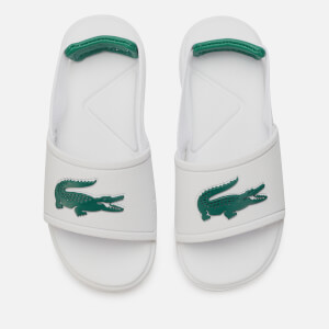 Lacoste Toddler's L.30 Strap 120 Slide Sandals - White/Green