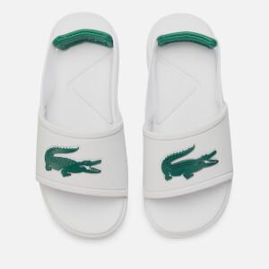 Lacoste Toddler's L.30 Strap 120 Slide Sandals - White/Green