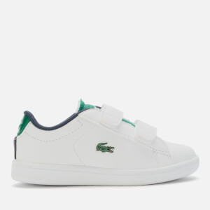 Lacoste Toddler's Carnaby Evo 120 Velcro Low Top Trainers - White/Green