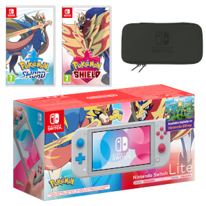 Nintendo Switch Lite (Zacian & Zamazenta Edition) Pokémon Sword and Pokémon Shield Double Pack