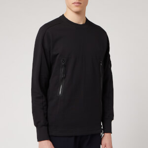 C.P. Company Men's Zip Detail Crewneck Sweatshirt - Black