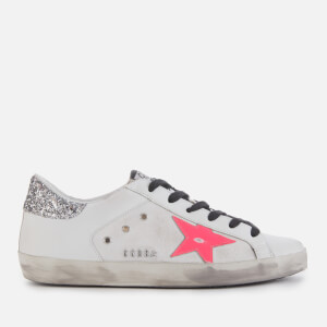 Golden Goose Deluxe Brand Women's Superstar Trainers - White/Pink Star