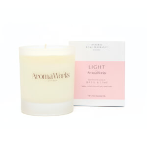 AromaWorks Light Range - Basil and Lime Candle 30ml
