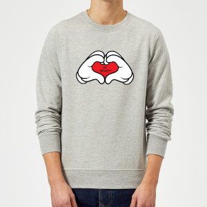 Ok Boomer Love Hands Sweatshirt - Grey