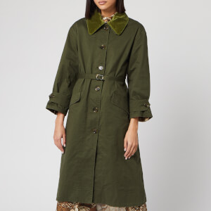 Barbour X Alexa Chung Women's Elfie Casual Jacket - Summer Military Green/Ancient Tartan
