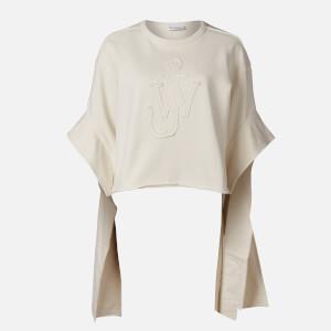 JW Anderson Women's Tab Logo Sweatshirt - White