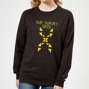 Family Fortunes Our Survey Said Women's Sweatshirt - Black