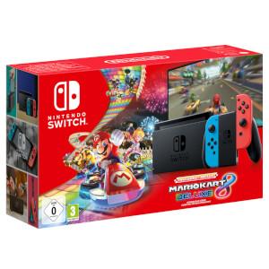 Nintendo Switch (Neon Blue/Neon Red) Mario Kart 8 Deluxe Bundle