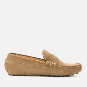 Kurt Geiger London Men's Louis Suede Driving Shoes - Beige