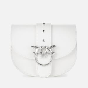 Pinko Women's Baby Round Shoulder Bag - Silver Grey