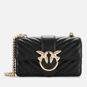 Pinko Women's Mini Love Mix Quilted Bag - Black