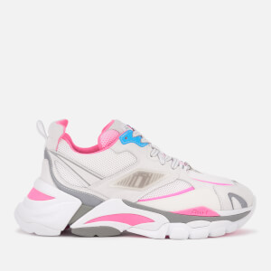 Ash Women's Flex Chunky Trainers - White/Silver/Deep Pink