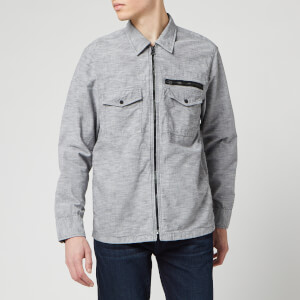 BOSS Hugo Boss Men's Lovel-Zip 3 Shirt - Grey
