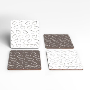 Pusheen Square Coaster Set