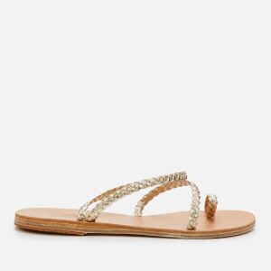 Ancient Greek Sandals Women's Eleftheria Leather Sandals - Platinum