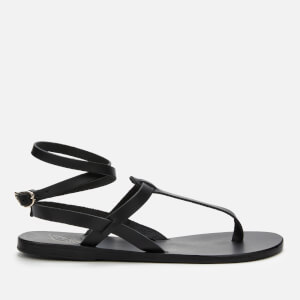 Ancient Greek Sandals Women's Estia Leather Gladiator Sandals - Black