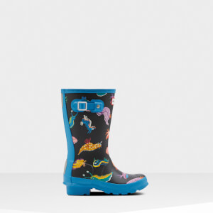 Hunter Kids' Original Sea Monster Wellies - Blue Bottle