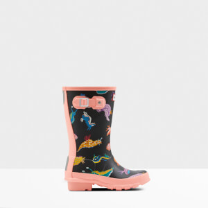 Hunter Kids' Original Sea Monster Wellies - California Sea Shelly