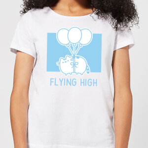 Pusheen Flying High Women's T-Shirt - White