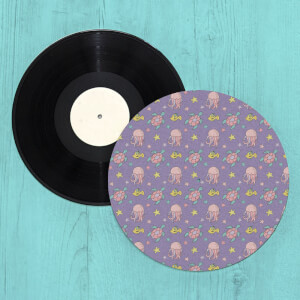 Jellyfish And Turtles Turntable Slip Mat
