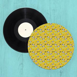Bright Yellow Panda Turntable Slip Mat