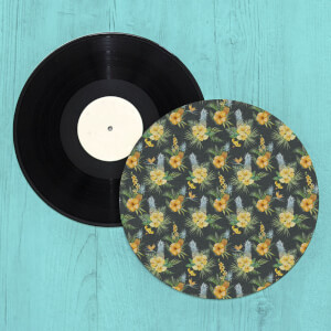 Tropical Pineapple Flowers Turntable Slip Mat
