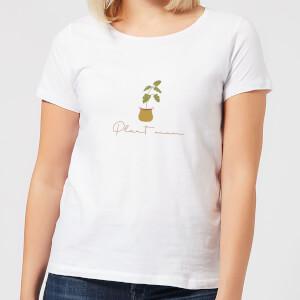 Burnt Orange Plant Mum Women's T-Shirt - White