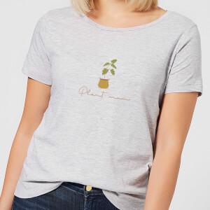 Burnt Orange Plant Mum Women's T-Shirt - Grey