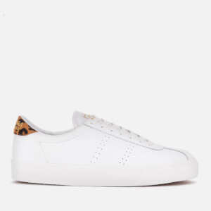 Superga Women's 2843 Comflealeopardu Leather Trainers - White/Animal