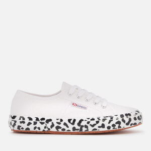 Superga Women's 2750 Cotw Printed Foxing Trainers - White Leopard