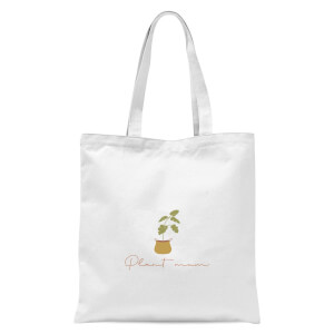 Burnt Orange Plant Mum Tote Bag - White