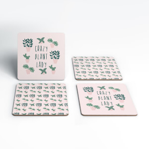 Crazy Plant Lady Coaster Set