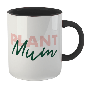 Plant Mum Mug - White/Black