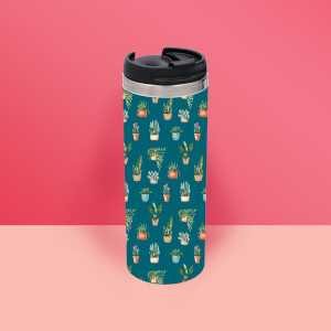 Water Colour Plants Thermo Travel Mug