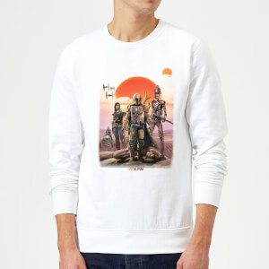 Sudadera The Mandalorian Warriors - Blanco