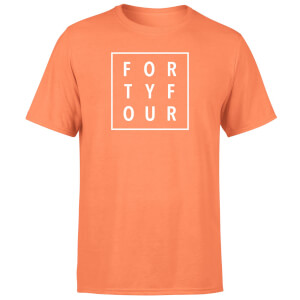 How Ridiculous Typographic Forty Four Square T-Shirt - Coral