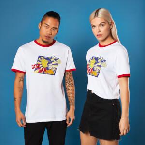 Camiseta ringer Star Trek Retro Captain Kirk - Unisex - Rojo/Blanco