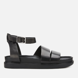 Vagabond Women's Erin Leather Flat Sandals - Black