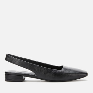 Vagabond Women's Layla Embossed Leather Sling Back Flats - Black