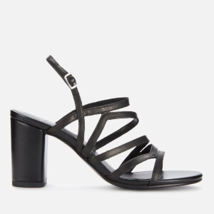 Vagabond Women's Penny Leather Block Heeled Sandals - Black
