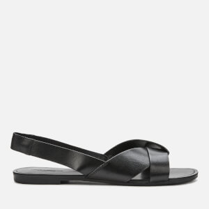 Vagabond Women's Tia Leather Flat Sandals - Black