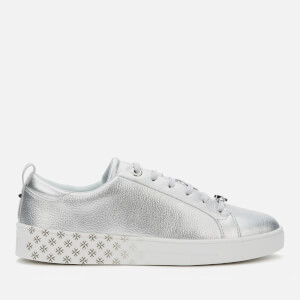 Ted Baker Women's Roullym Metallic Leather Trainers - Silver