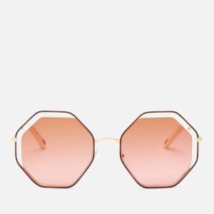 Chloé Women's Poppy Octagon Frame Sunglasses - Havana/Brick Rose