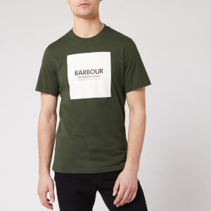 Barbour International Men's Block T-Shirt - Jungle Green