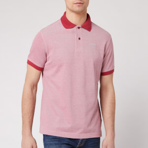 Barbour Men's Sports Polo Mix - Raspberry