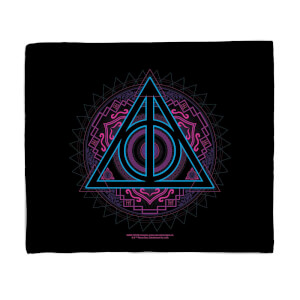 Harry Potter Deathly Hallows Fleece Blanket