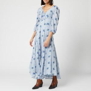 Free People Women's Sea Glass Midi Dress - Blue Combo