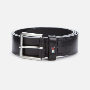 Tommy Hilfiger Men's Urban Denton Leather Belt - Black