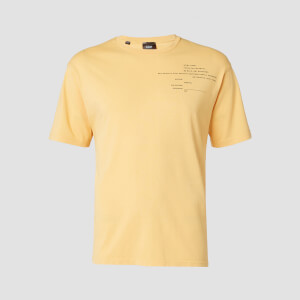 T-shirt Rest Day Staggered Slogan MP da uomo - Oro vecchio